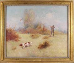 Eugene Petit Antique Original Oil Painting Pheasant Shooting Spaniel Dog Framed Painting, Oil, The Originals, Antiques, Modern, Ebay, Antiquities, Antique, Trendy Tree