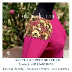In order to be irreplaceable one must always be different . Contact us for more details 9840656145 Blouse Neck Patterns, Sari Blouse Designs, Fancy Blouse Designs, Designer Blouse Patterns, Bridal Blouse Designs, Embroidery Suits Design, Hand Embroidery, Embroidery Designs, Stylish Blouse Design