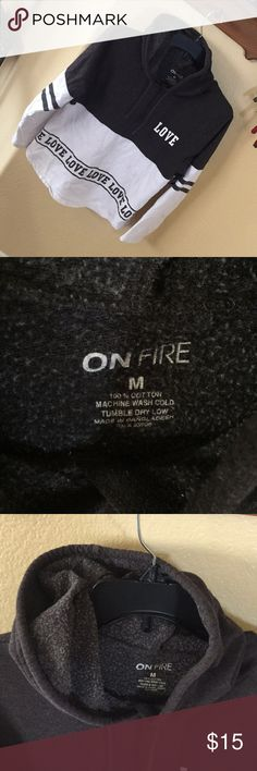 On fire hoodie sweatshirt LOVE Love sweatshirt size m excellent condition on fire Tops Sweatshirts & Hoodies