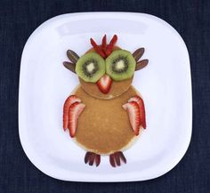 A fruit and pancakes owl is a hoot.