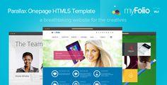 myFolio - Parallax Onepage HTML5 Template - Creative Site Templates