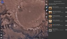 A superb map of Mars and interactive guide to the NASA martian missions. Add your own pins to the map and explore interesting features. Download 3D printed files of mission artefacts.