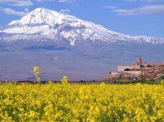 Stunning Mount Ararat looks over the Armenian countryside