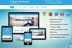 Enigma Premium  WordPress Theme by  Weblizar Themes & Plugin on @Graphicsauthor