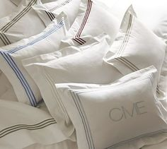 Grand Embroidered 280-Thread-Count Boudoir Pillow Cover