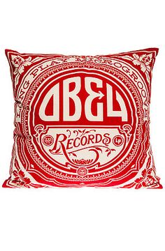 The Gold Label LP Pillow in Red by Obey