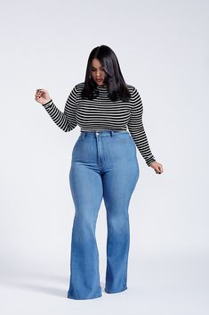Plus Size Jeans Wide Leg - MX Jeans