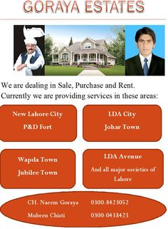 we are dealing in all kind of properties in lahore pakistan with RegardsL: ch. naeem goraya 03008423052