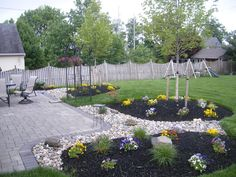 landscaping around patio pictures - Google Search