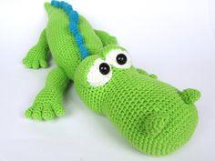 ♡•Krokodil Alfred - Häkelanleitung•♡