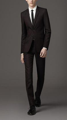Utterly sharp.  Burberry's slim single breasted suit.