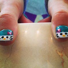 Hello Kitty nails Hello Kitty Nails, Cat Nails, Print Tattoos, Girls, Little Girl Nails, Toddler Girls, Daughters, Maids
