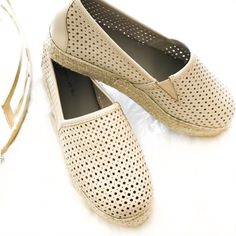 73233b83bfb3 Brett - Cream Leather - Leather upper - Leather lining - Espadrille midsole  - Chocolat blu signature rubber sole - Approx. 1''total platform height