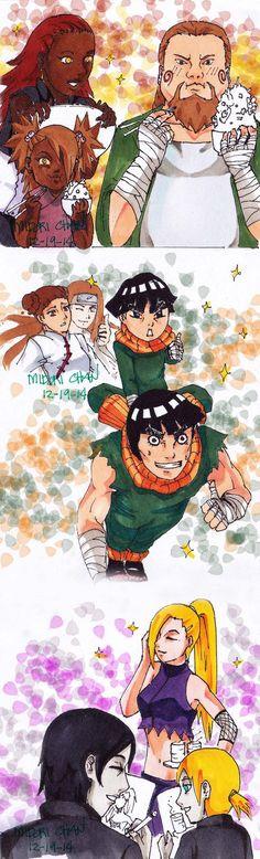 Next Generation Families-Akimichi,Lee,Yamanaka by midorichan12 on DeviantArt