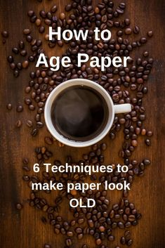 Create vintage style papers for your heritage and family scrapbook pages. Add this paper to old black and white photos and ephemera embellishments and make family heirlooms that will last for a long time. #scrapbook #pages #techniques #paper #vintage #heritage