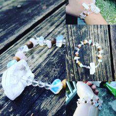 Enlightenment Bracelet Herkimer diamonds by EmilysReikiBracelets #bracelet #boho #yoga #meditation #hippie #hipster #selenite #herkimer diamond #quartz #moonstone #beautiful #christmas #rustic #jewelry #statement