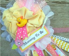 Pink Rubber Duck Mommy To Be Corsage Baby Shower by BloomingParty, $16.00