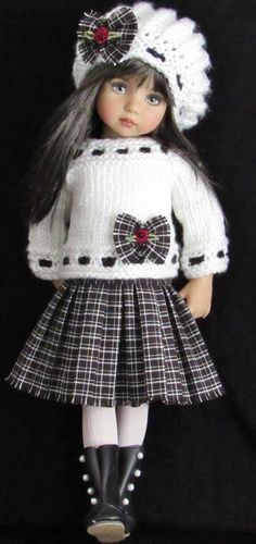 42 New Ideas Crochet Doll Clothes American Girl Sweaters Sewing Doll Clothes, American Doll Clothes, Crochet Doll Clothes, Knitted Dolls, Doll Clothes Patterns, Girl Doll Clothes, Crochet Dolls, Clothing Patterns, Girl Dolls