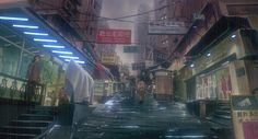 Ghost in the Shell, in addition to being a badass anime movie, has some of the most elaborate and detailed backgrounds I've ever seen in a film making every frame an incredible work of art. Cyberpunk Anime, Cyberpunk City, Cyberpunk 2077, Film Science Fiction, Masamune Shirow, Cartoon As Anime, Animation Background, Ghost In The Shell, Future City