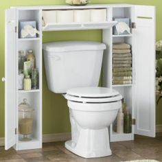 Be Creative in Small Bathroom by Applying Bathroom Spacesaver Cabinet Toilet Storage, Bath Storage, Small Bathroom Storage, Small Space Organization, Storage Spaces, Organizing Ideas, Ideas Baños, Small Toilet, Bathroom Furniture