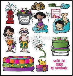Water fun bundle by Melonheadz by melonheadzdoodles on Etsy