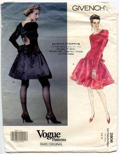 1990s Vogue 2806 Paris Original Givenchy Misses' by GreyDogVintage