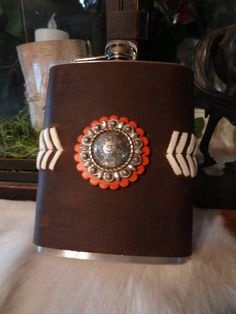 Leather Western Flask by RodeoMomKat on Etsy, $20.00