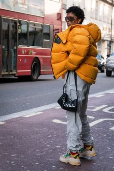 BG STREET STYLE/Renell Medrano  at London Fashion Week Men's Street Style Fall 2018 by Poli Alexeeva.#BGSTREETSTYLE/