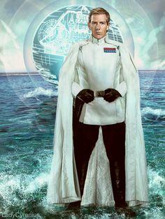 """♥ Director Orson Krennic ♥   Admiral Silverfox & his """"Death Beach Ball""""  --- #OrsonKrennic, #BenMendelsohn, #StarWars, #RogueOne, #DeathStar, SilverfoxOrsonKrennic, #DeathTroopers,"""