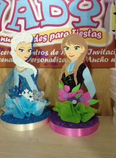 Decoraciones chicas Elsa y Anna...
