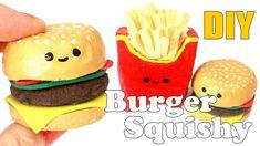 DIY Mini Burger Squishy Tutorial (Make Up Sponge)