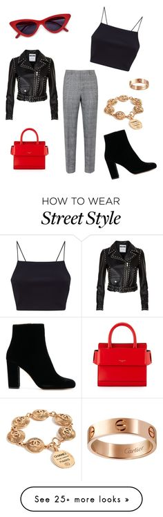 """NYFW Street Style"" by ashleemillerrr on Polyvore featuring IRO, Givenchy, Cartier and Moschino"