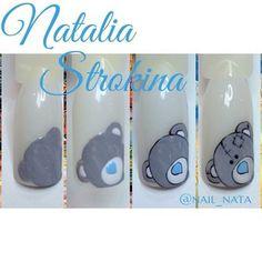 Pin by Natalia Hanina on manicure Animal Nail Designs, Animal Nail Art, Nail Art Designs, Cute Nail Art, Nail Art Diy, Easy Nail Art, Nail Design Rosa, Nail Drawing, Valentine Nail Art
