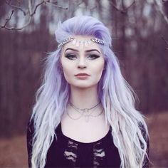 Pastel purple ombré to platinum blonde