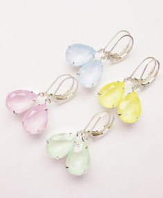 Hey, I found this really awesome Etsy listing at https://www.etsy.com/listing/229035788/pastel-crystal-rhinestone-earrings
