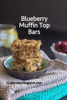 Grain Crazy: Blueberry Muffin Top Bars