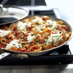 This skillet lasagna is a good alternative to the traditional set-up when there's only a few eaters.