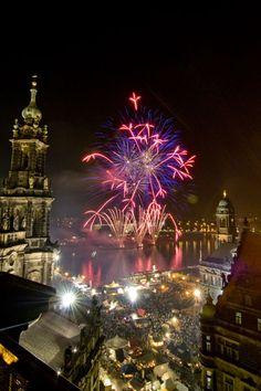 Fireworks in Dresden