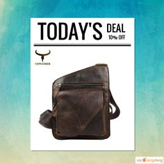 Today Only! 10% OFF this item.  Follow us on Pinterest to be the first to see our exciting Daily Deals. Today's Product: Designer 100% Genuine Cow Leather Men's Messenger Bag Buy now: https://small.bz/AAZyFzR #musthave #loveit #instacool #shop #shopping #onlineshopping #instashop #instagood #instafollow #photooftheday #picoftheday #love #OTstores #smallbiz #sale #dailydeal #dealoftheday #todayonly #instadaily
