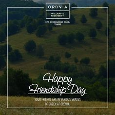 Experience ever moving leafy canvas of 1000 plus trees - your new friends. Happy Friendships Day. #FriendshipDay