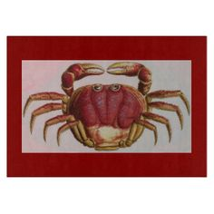 Sally Lightfoot Crab Glass Cutting Board New glass cutting boards from www.zazzle.com/memoriesplus*/