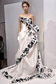 Trajes de novia goticos en blanco y negro