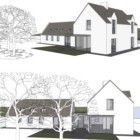 EXISTING COTTAGE RENOVATION WITH EXTENSION, RATHCORMAC, CO.CORK | Louise Sliney Architects House Extension Design, Extension Designs, House Design, Future House, My House, Cottage Renovation, House Extensions, Lac Louise, Modern Farmhouse