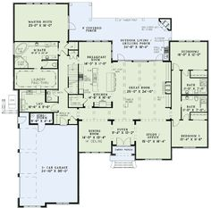 This really is a perfect floor plan for a one story!