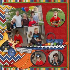scrapbook page idea using kits from Connie Prince | Scrapbook Page ...