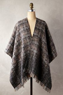 Burberry-Inspired Blanket-Ponchos Without the Price Tag (Anthropologie)