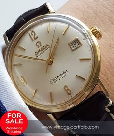 Wonderful Omega Seamaster de Ville Automatik, gold plated, with Date…