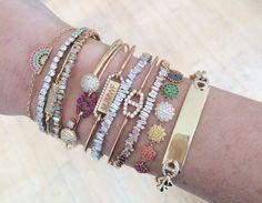 Jaimie Geller Jewelry arm stack // #jewelry