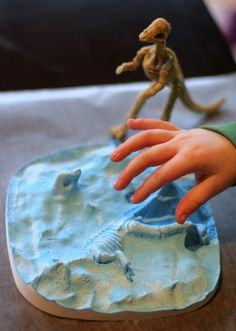Make your own Dinosaur Fossil  FUN AT HOME WITH KIDS