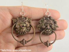 Labyrinth Door Knocker Earrings by ArtByAelia on Etsy https://www.etsy.com/shop/ArtByAelia